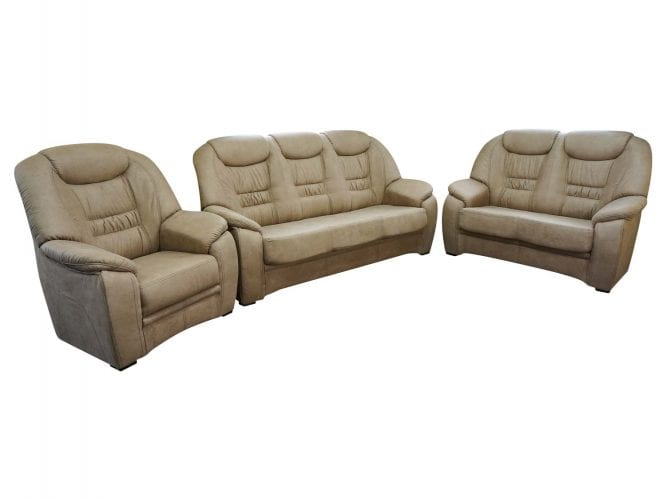 Dwie sofy i jeden fotel