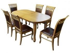 Rozkładany stół z 6 krzesłami do salonu
