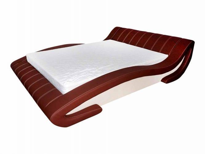 Wygodne łóżko tapicerowane