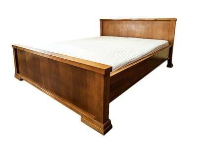 Piękne dębowe solidne łóżko