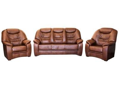 Elegancki wygodny fotel skórzany