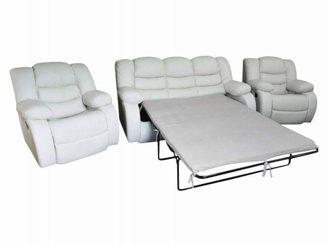 Rozkładana kanapa z fotelami