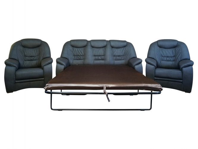 Rozkładany komplet wypoczynkowy z fotelami