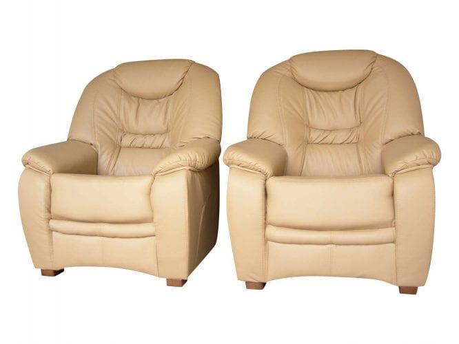 Skórzane fotele kremowe