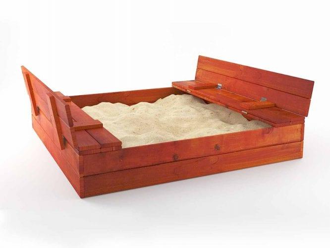 Duża piaskownica drewniana