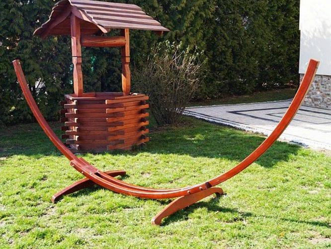 Mocny drewniany hamak