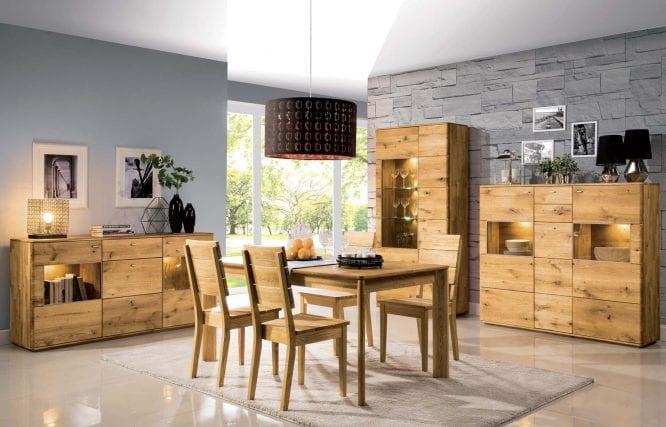 Zestaw mebli drewnianych do salonu