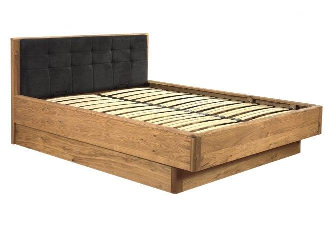 Łóżko dębowe z pojemnikiem